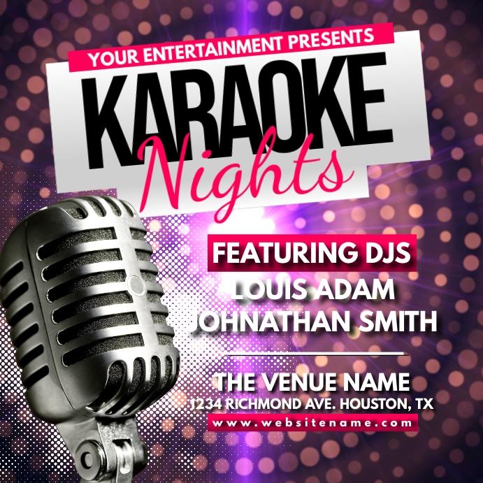 Karaoke Nights Instagram Post template