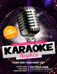 Karaoke Nights Flyer Template Pamflet (Letter AS)