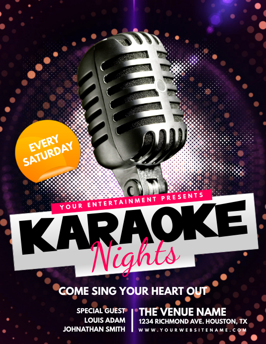Karaoke Nights Flyer Template Folder (US Letter)