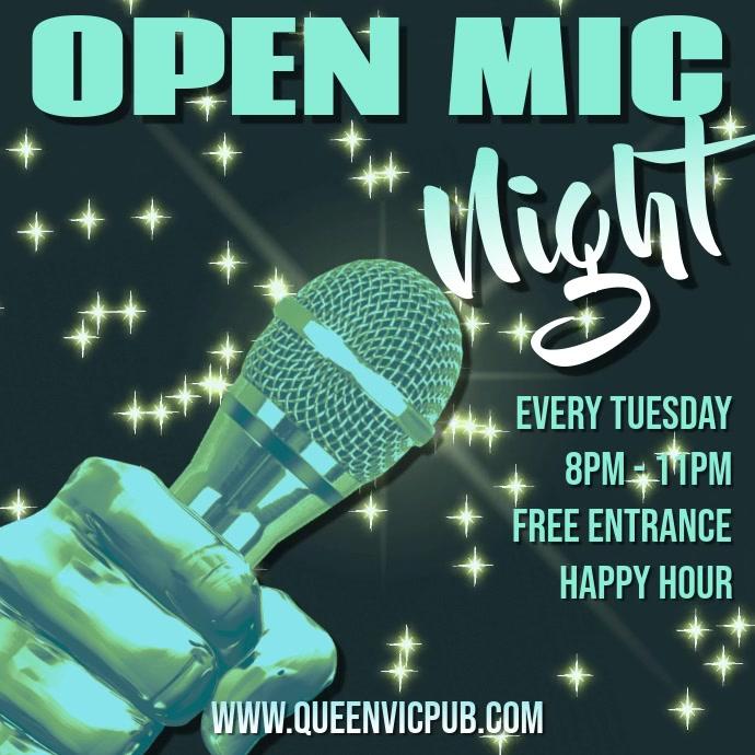 Karaoke Open Mic Night Video Template