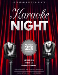 Karaoke or comedy night Flyer Template