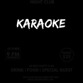 KARAOKE PARTY Square (1:1) template