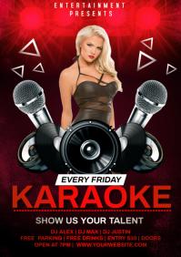 karaoke party A4 template