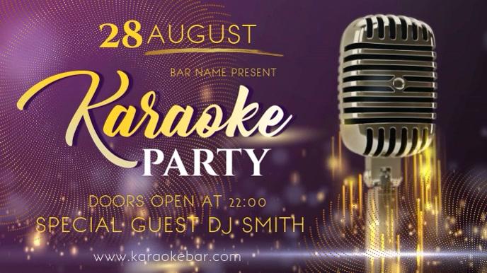 Karaoke Party Digital Display Video Template