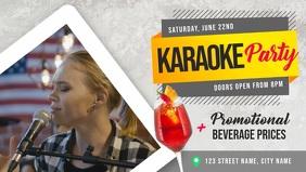 Karaoke Party Event Facebook Cover Video