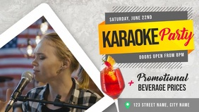 Karaoke Party Event Facebook Cover Video template