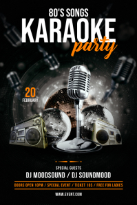 Karaoke Party Flyer Poster template