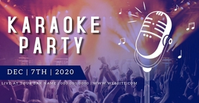 Karaoke party night event ad TEMPLATE Facebook Shared Image