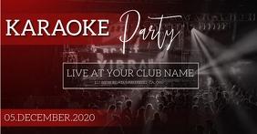 KARAOKE PARTY NIGHT EVENT AD TEMPLATE Gambar Bersama Facebook