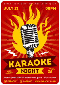 KARAOKE PARTY POSTER A4 template