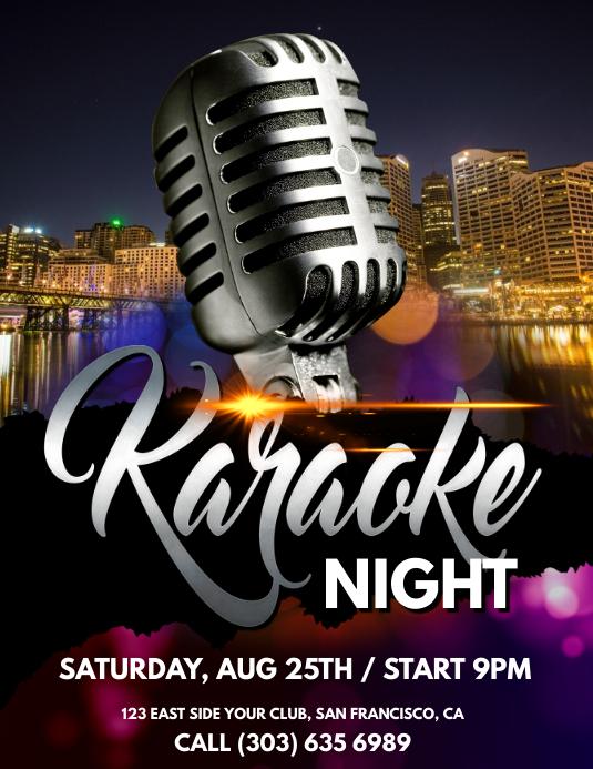 karaoke Poster Template