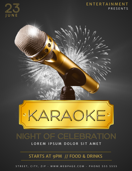 Karaoke Flyer Template