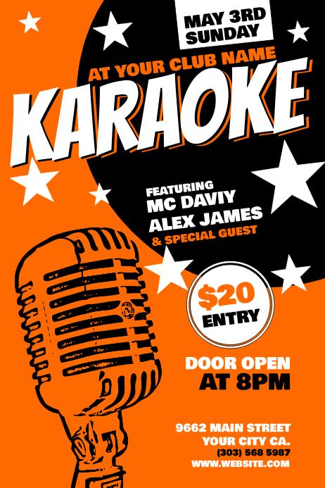 karaoke Poster Template โปสเตอร์