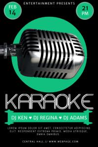 karaoke flyer template free