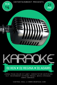 10 580 customizable design templates for karaoke posters postermywall