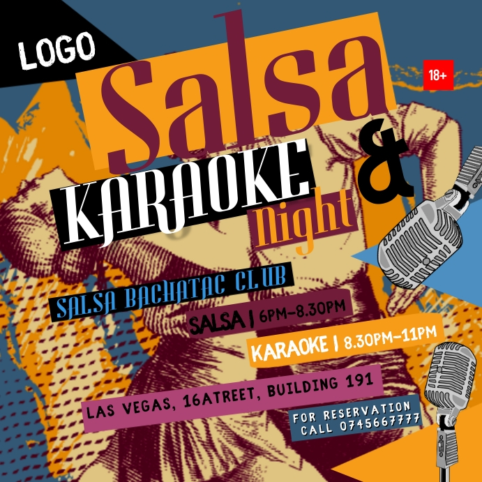 Karaoke posters template
