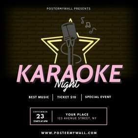 Karaoke Promo Ad Template Quadrat (1:1)