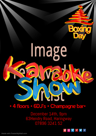 Karaoke Show Boxing Day Poster