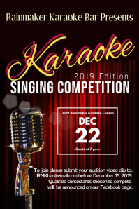 karaoke singing competition template