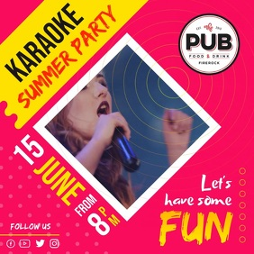 Karaoke Summer Party Square Video