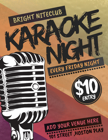 Karaoke templates,jazz flyers,event flyers