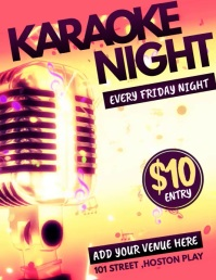 Karaoke templates,jazz flyers,event flyers Pamflet (Letter AS)