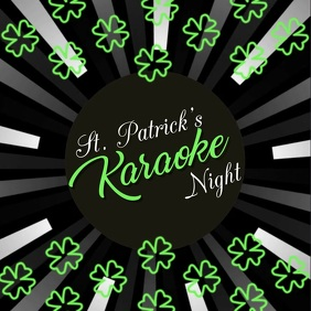 Karaoke Video, St. Patrick's, St. Patrick's Karaoke Video Carré (1:1) template