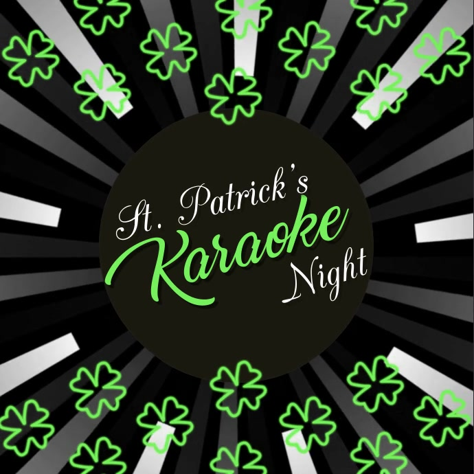 Karaoke Video, St. Patrick's, St. Patrick's Karaoke Video Kvadrat (1:1) template