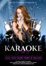 karaoke video A4 template