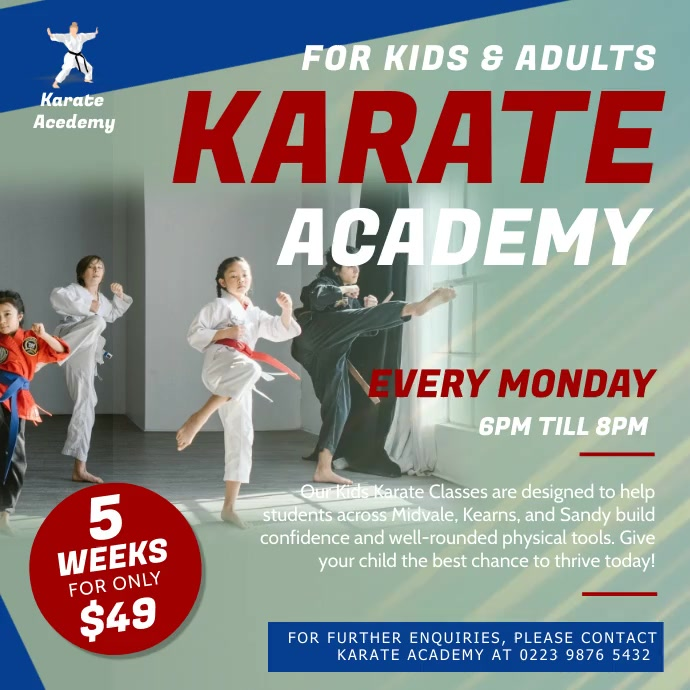Karate Academy Classes Square Video
