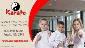 Karate Business Card template