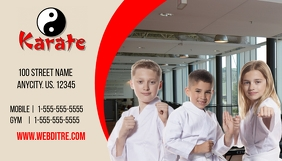 Karate Business Card template