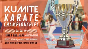 Karate Championship Digital Display Video template