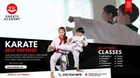 Karate Class Ad Vídeo de capa do Facebook (16:9) template