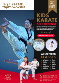 Karate Class Flyer A4 template