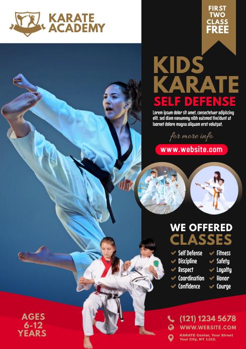 Karate Class Flyer A4 template
