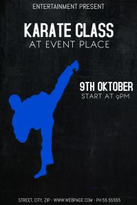 Karate class flyer template