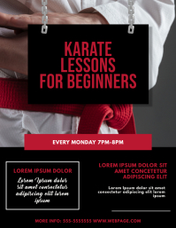 Karate Classes Flyer Design Template