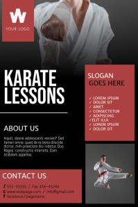 Karate Classes Flyer Design Template Poster
