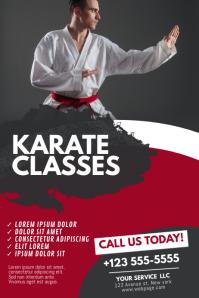 Karate Classes Flyer Design Template