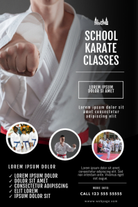 Karate classes flyer design template Cartaz