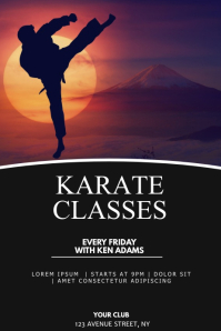 Karate classes flyer template