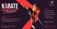 Karate classes promotion facebook post template