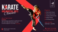 Karate classes promotion twitter post banner template