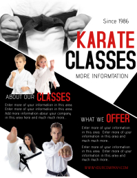 KARATE Flyer (US Letter) template