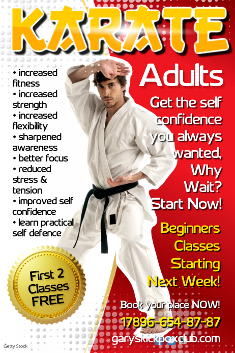 Karate Poster Template Postermywall