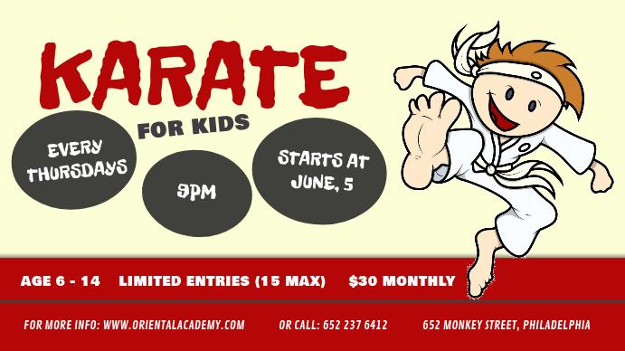 Karate for Kids Digital Display Image