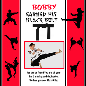 Karate Instagram size Online Card