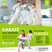 Karate Lessons Ad Pos Instagram template