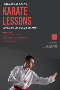 karate lessons flyer design template Poster